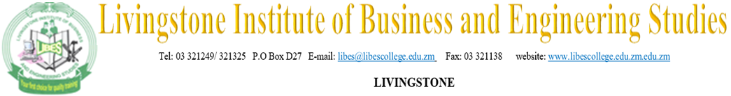 Livingstone Institute of Business and Engineering Studies